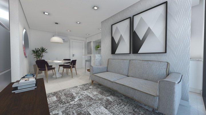 Residencial Mont Blanc - Apto 03 3D Model