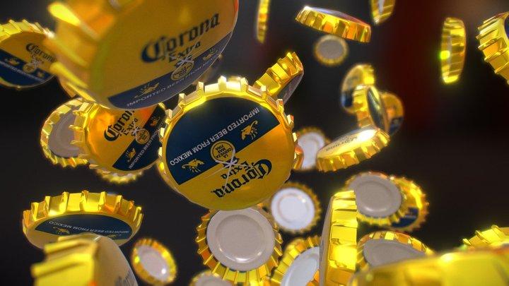 Corona Beer Caps 3D Model