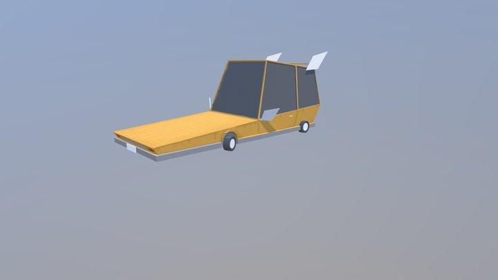 Car Ship 3D Model