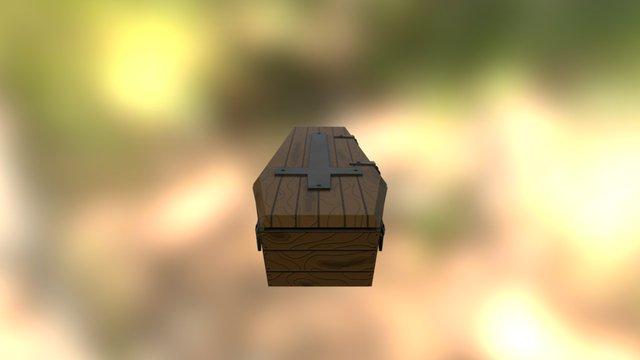 Textured Medieval Coffin 3D Model