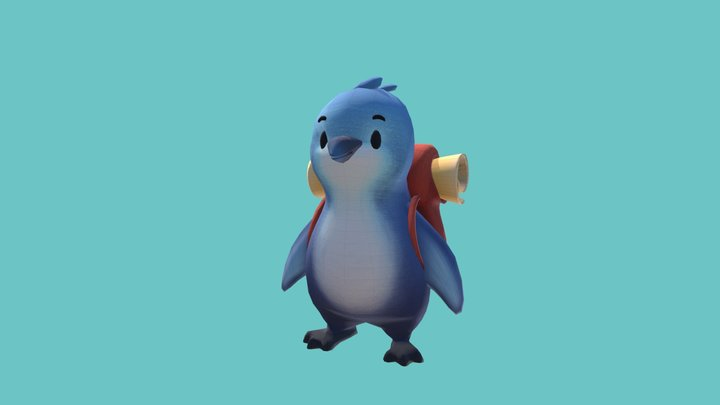 Penny the Penguin 3D Model