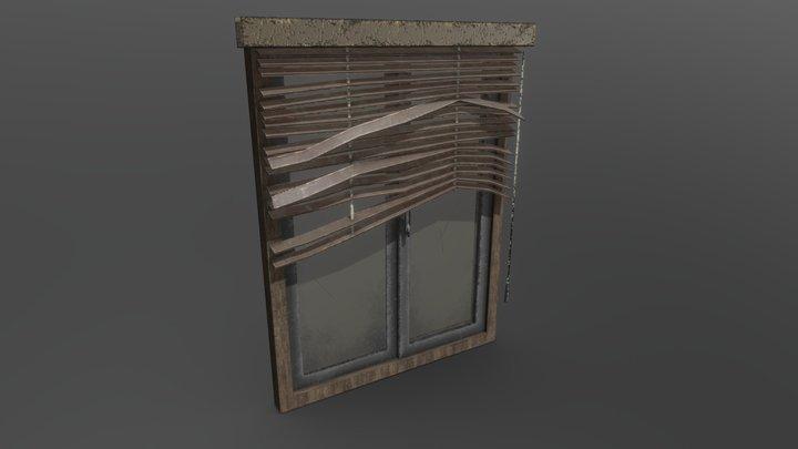 Old Office Window 3D Model