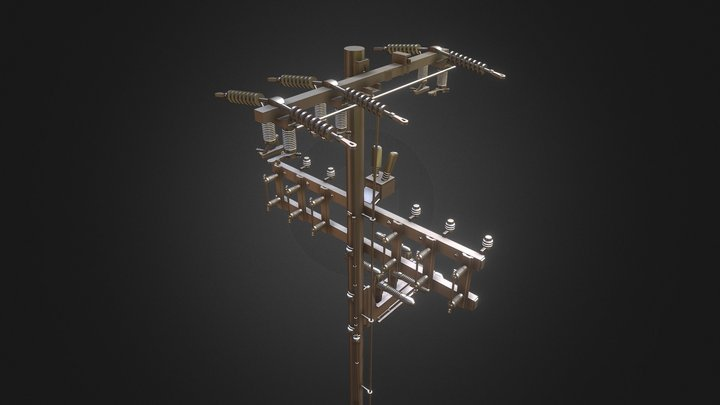 Hub Power Pole - 1/24 Scale