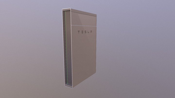 Tesla Powerwall 2 3D Model