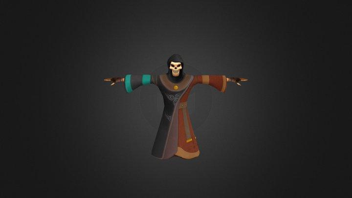Skeleton Sorcerer 3D Model