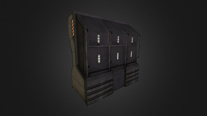 Sci-fi Weapons locker 3D Model