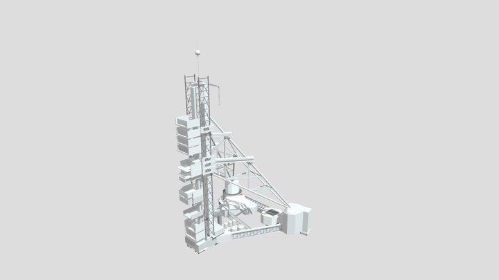 N1 Rocket service tower 3D Model
