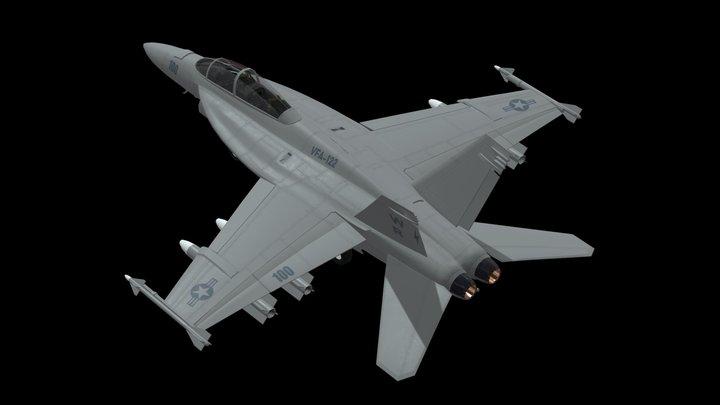 F18 Jet Fighter 3D Model