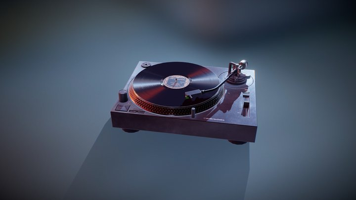 Turntable 3D Model