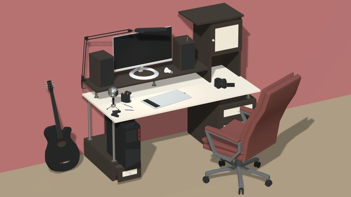 My workplace 3D Model
