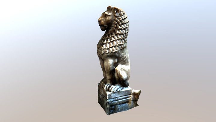 Newcastle Cathedral pulpit lion, UK 3D Model