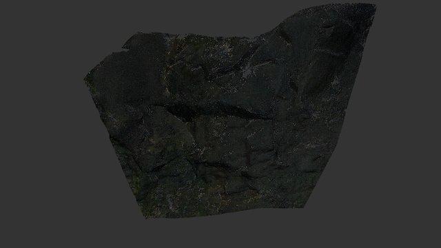 Rock wall part 3D Model