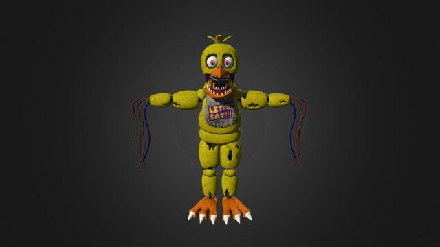 Withered Chica 3D Model