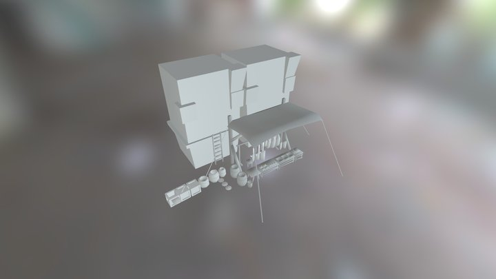 Sketch FAb Butchers stall 3D Model