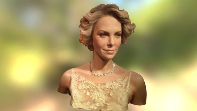 charlize theron 3D Model