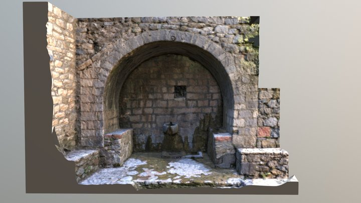 19th century stone-made fountain house in Greece 3D Model
