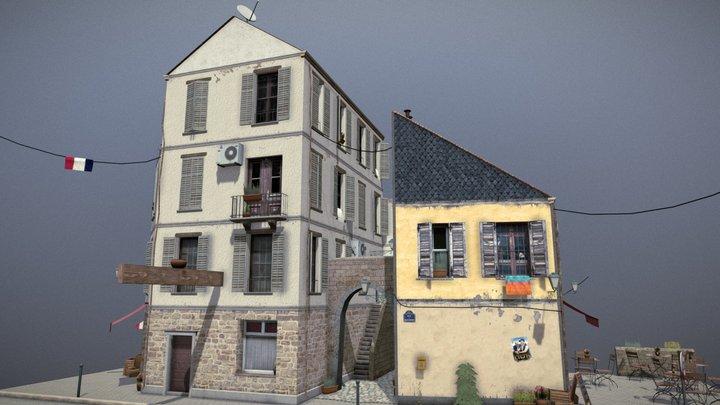 Seillans City Scene 3D Model