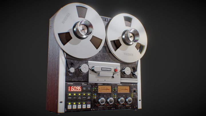 Reel to Reel Tape Recorder 3D Model