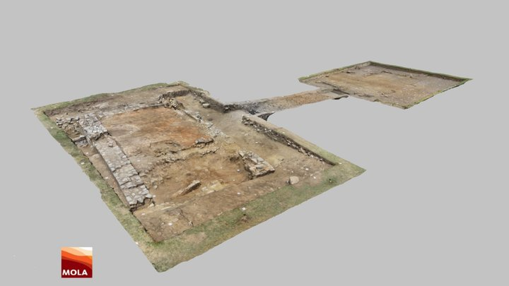 Archaeological excavation 2017, latest stage 3D Model