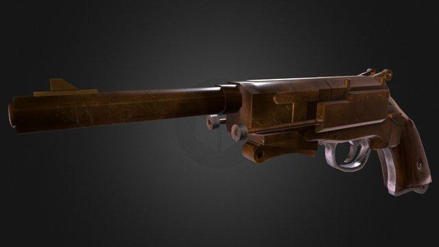 Malcolm Reynolds' Pistol - Lowpoly 3D Model