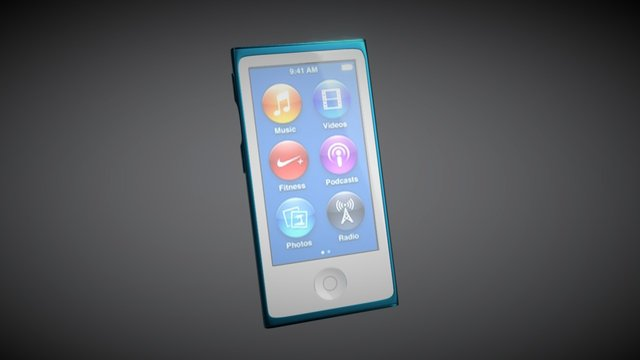 iPod Nano 7th Generation 3D Model