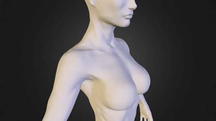 Woman Ochabski fitness slim figure 3D Model