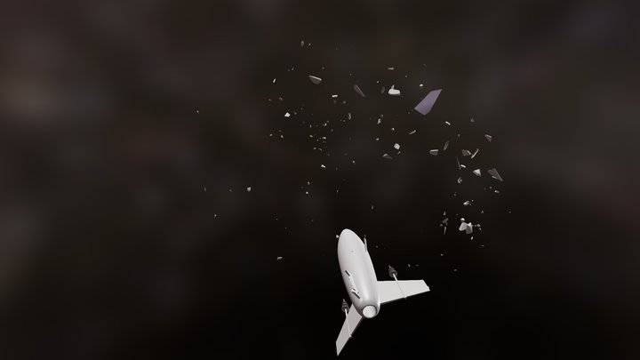 Space Ship Explode 3D Model