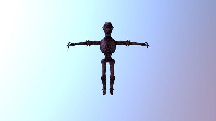 LAG 2019 game jam robotic ghost texture 3D Model