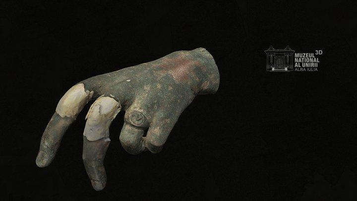 Roman bronze statue fragment R3648, Apulum 3D Model