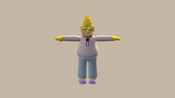 The Simpsons Hit & Run - Abraham Simpson 3D Model