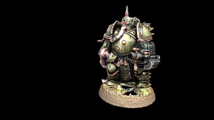Plague Marine #1 3D Model