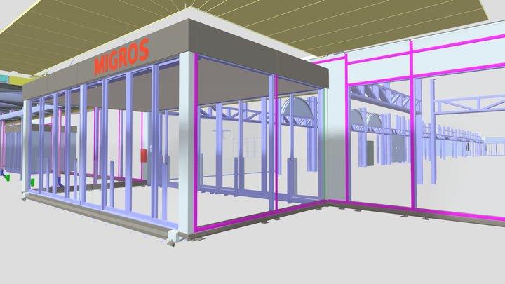 Herblinger Markt Migros, 3D BIM + Werkplanung 3D Model