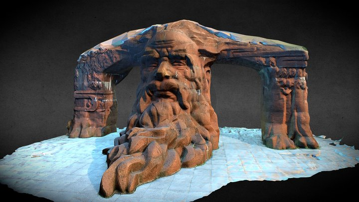 Red_Stone_Sculpture 3D Model
