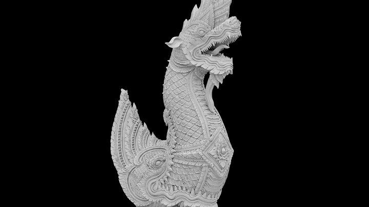Thai Dragon | King Of Naga #RCDragons 3D Model