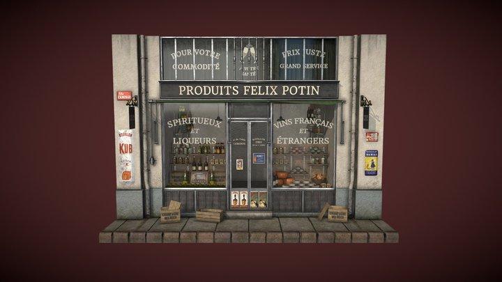 Felix Potin Shopfront 3D Model