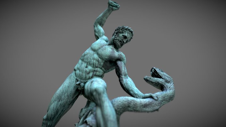 Hercules fighting Acheloos, Carbonneaux (1824) 3D Model
