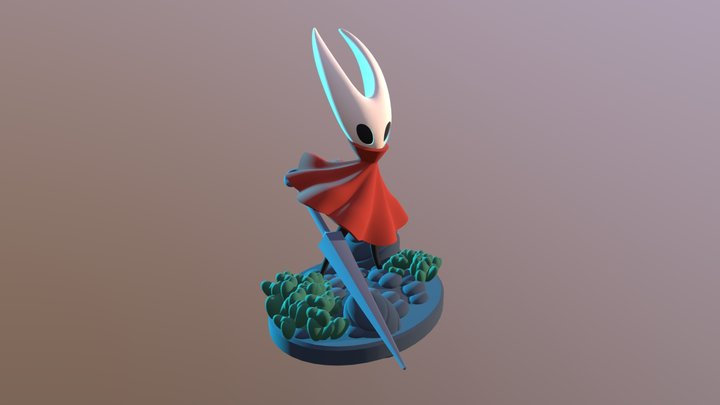 Hollow Knight Hornet WIP 3D Model
