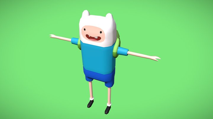 Finn the Human (Adventure Time ^__^) 3D Model