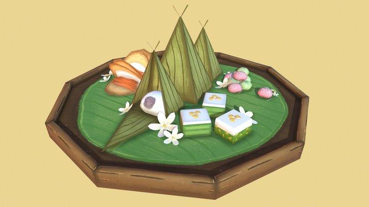 Kanom Thai // Thai Desserts 3D Model