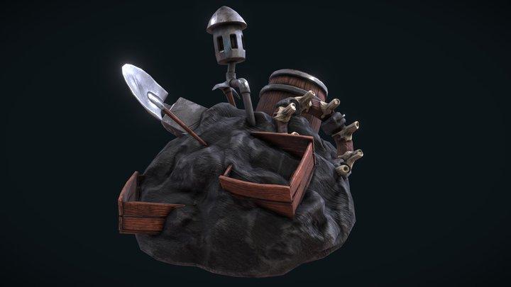 Blacksmith Forge Rubble 3D Model