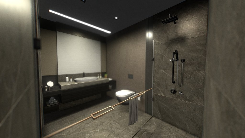 Bathroom Interior Download Free 3d Model By Oguz Kaya Oguzkaya 68be897 Sketchfab