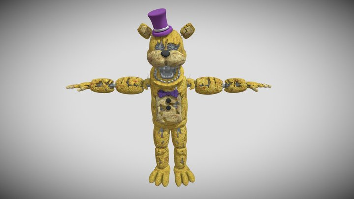 Torture Fredbear from the return to freddy's 5 3D Model