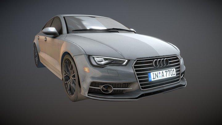 Audi 2016 Car Model Mid Poly 3D Model