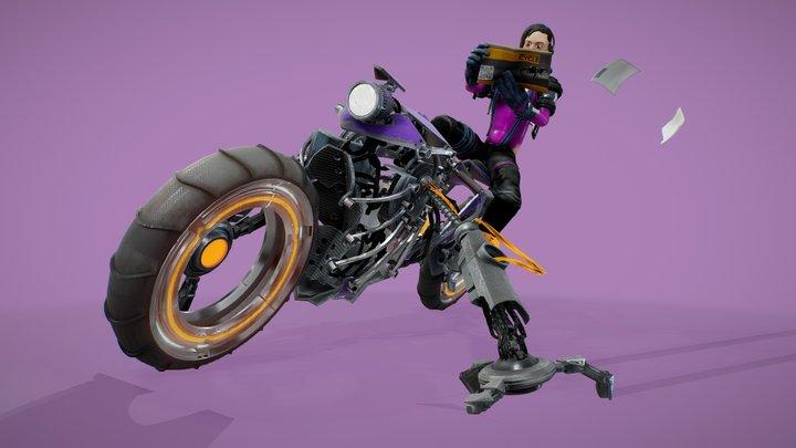 Scifi Robotcycle 3D Model