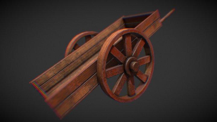 Wooden weelbarrow 3D Model