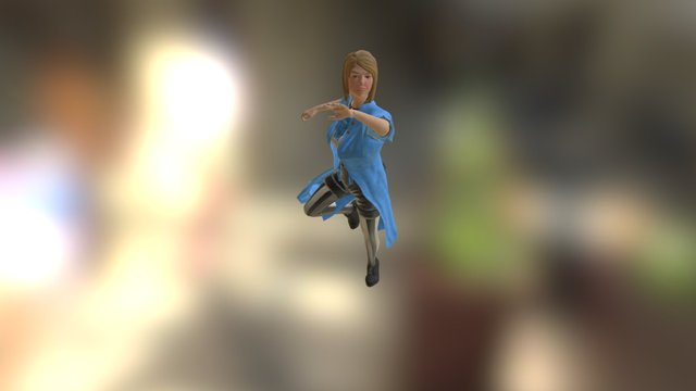 Alice Action Pose 3D Model