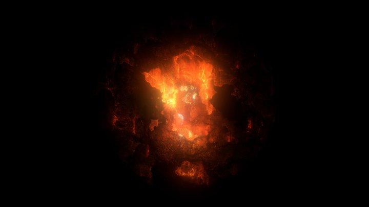 Supernova remnant : lighting 2 3D Model