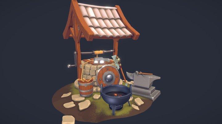 A Blacksmith Camp 3D Model