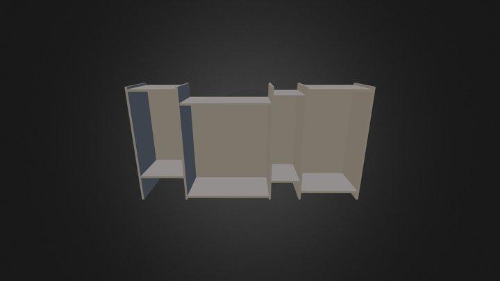 Bookcase 3D-012 3D Model