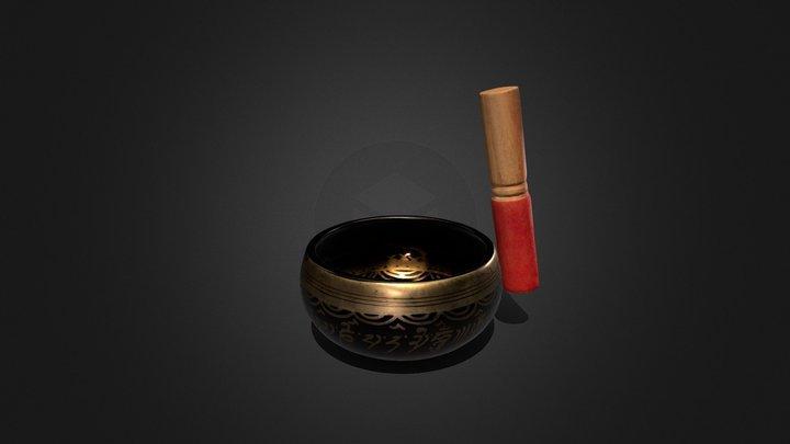 singing nepali bowl - animation 3D Model